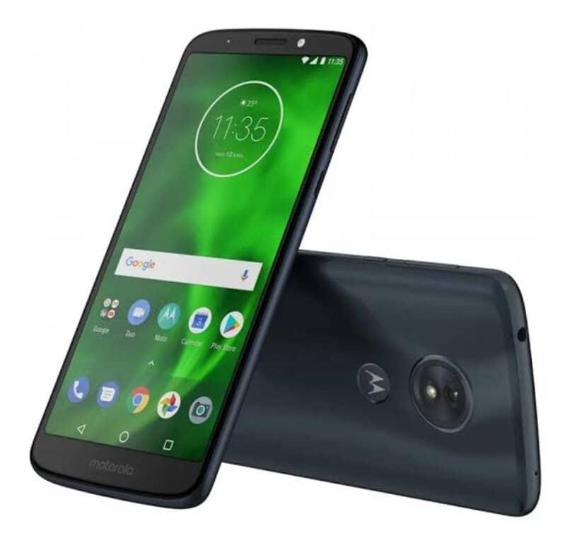dispositivo android acostado inclinado