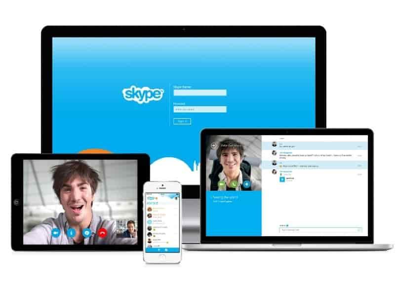herramienta skype en varios dispositivos
