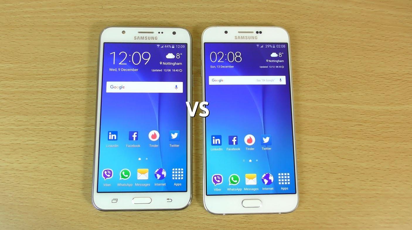 Samsung Galaxy A8 Vs Samsung J7 Cual Es El Mejor