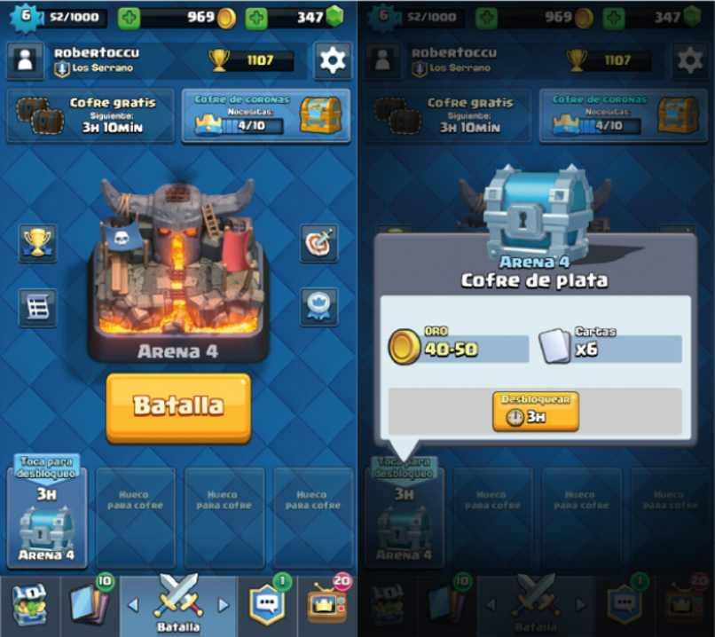 cuenta dual clash royale