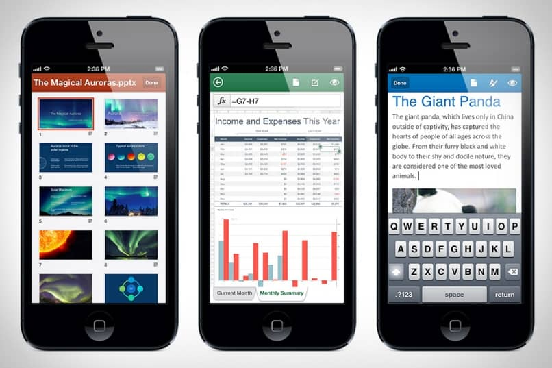 aplicaciones moviles de office