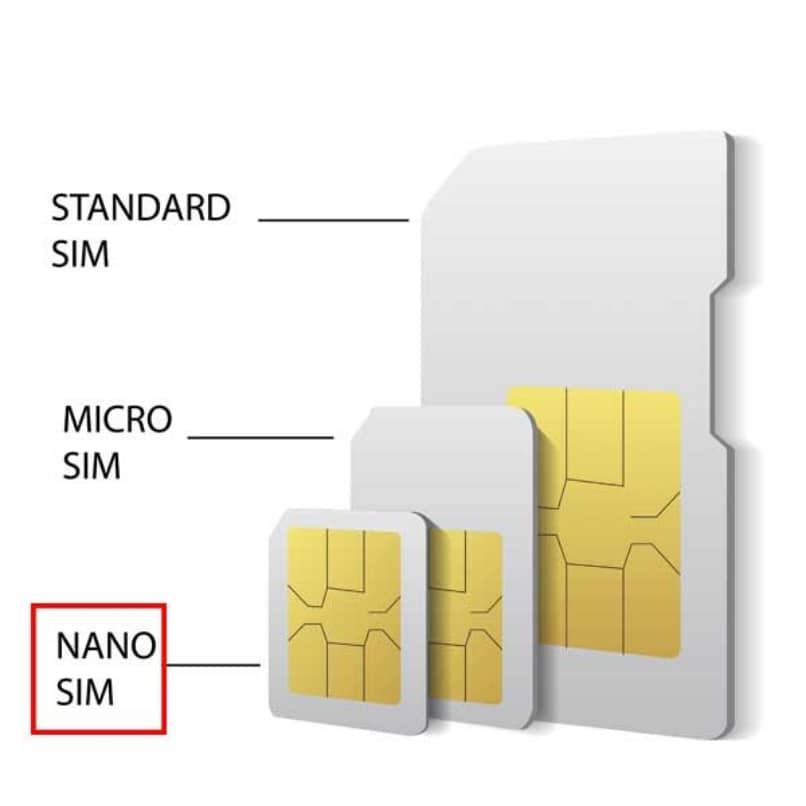 diferentes tamanos de tarjetas sim o chip