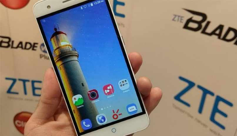 zte black movil android