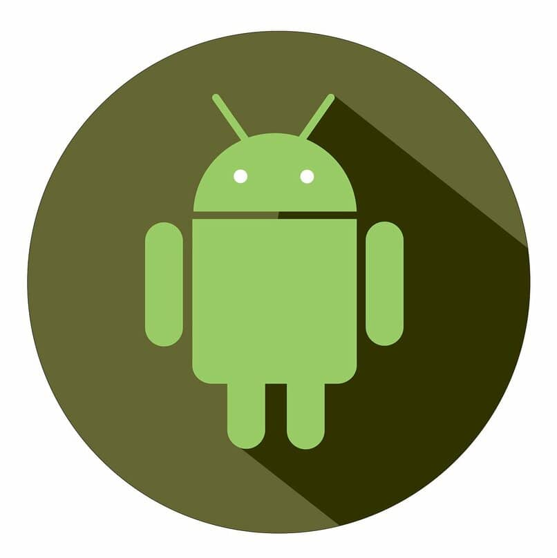 logo de android en un fondo verde oscuro