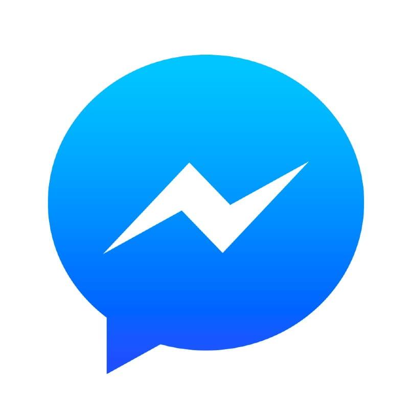 icono facebook messenger fondo blanco