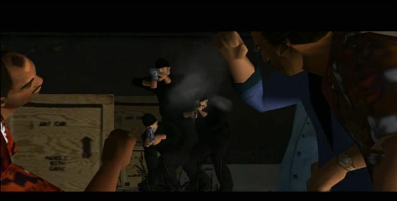 muestra de las escenas en el juego gta vice city