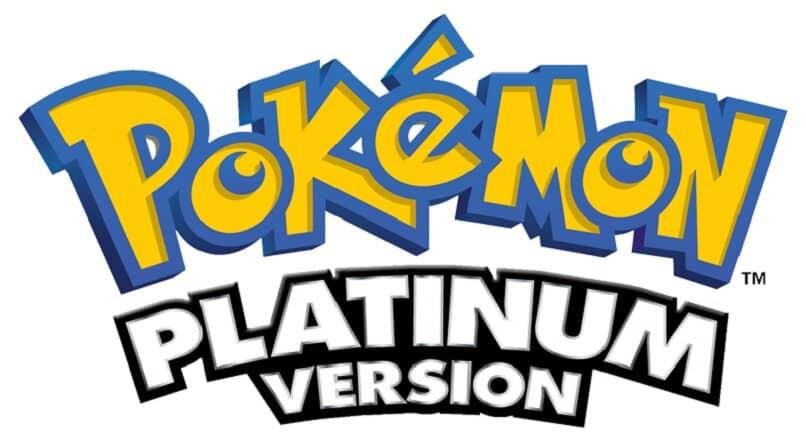 pokemon platino logo fondo blanco