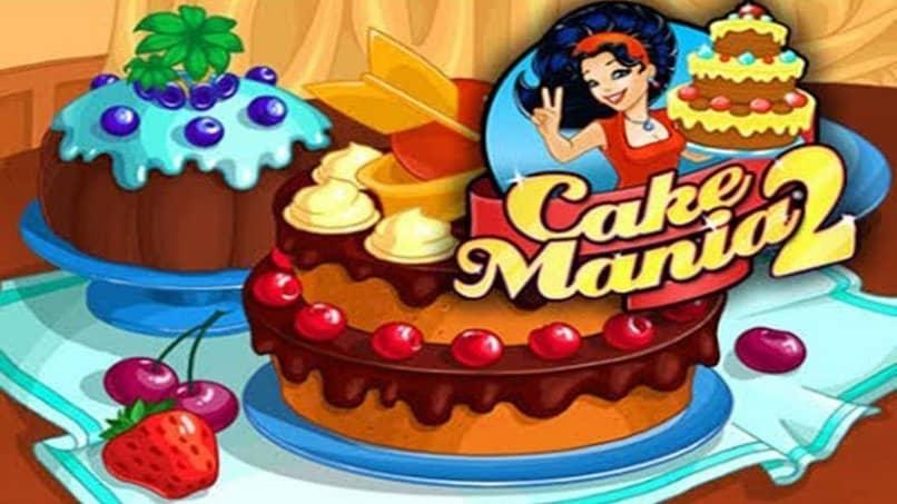 pantalla inicial de juego cake mania
