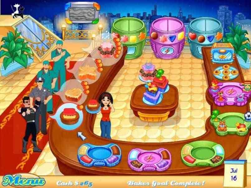 pantalla de juego cakemania