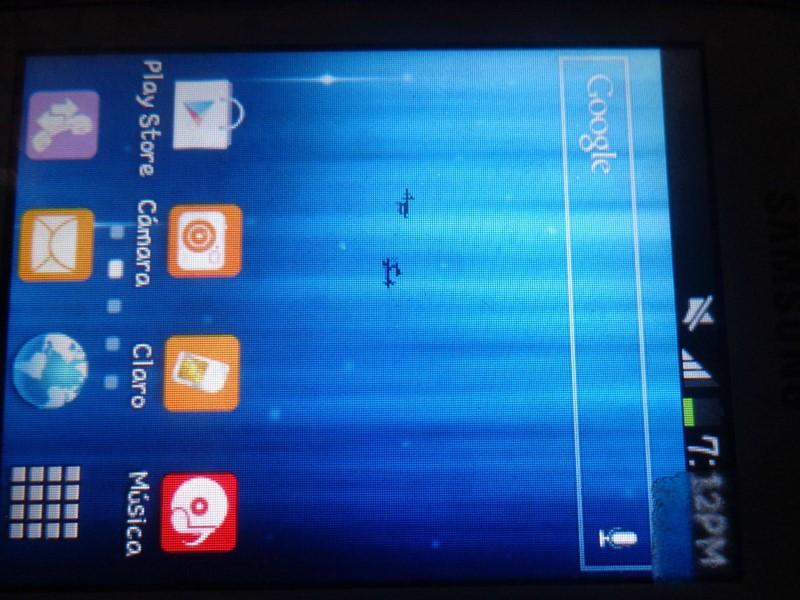 reparar la pantalla del móvil con la tinta regada