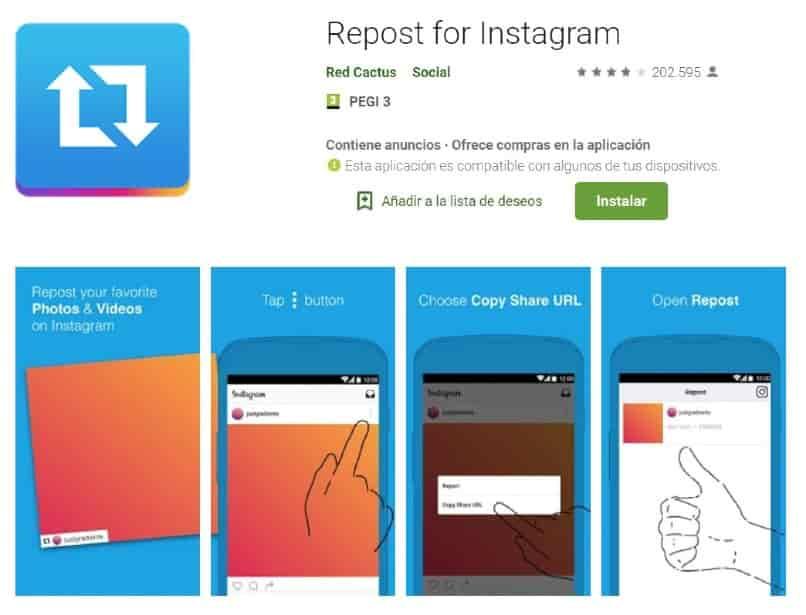 como descargar instagram repost