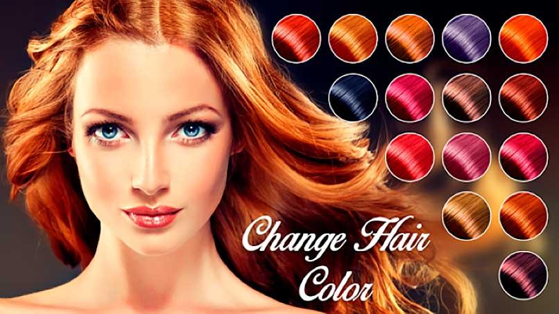 Aplicación para cambiar el color del cabello
