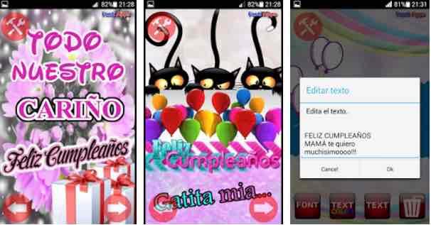 5 Aplicaciones Para Felicitar El Cumpleaños En Android Gratis Mira