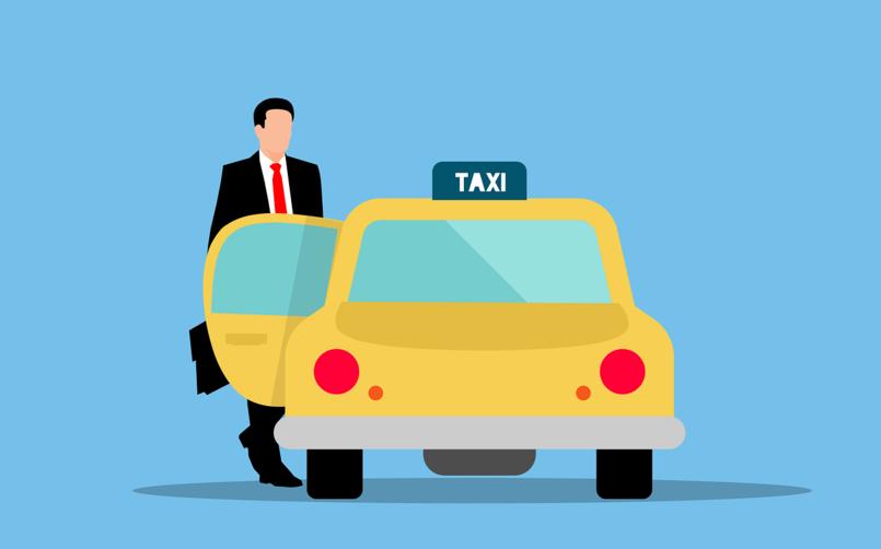 usuario entrando a taxi uber