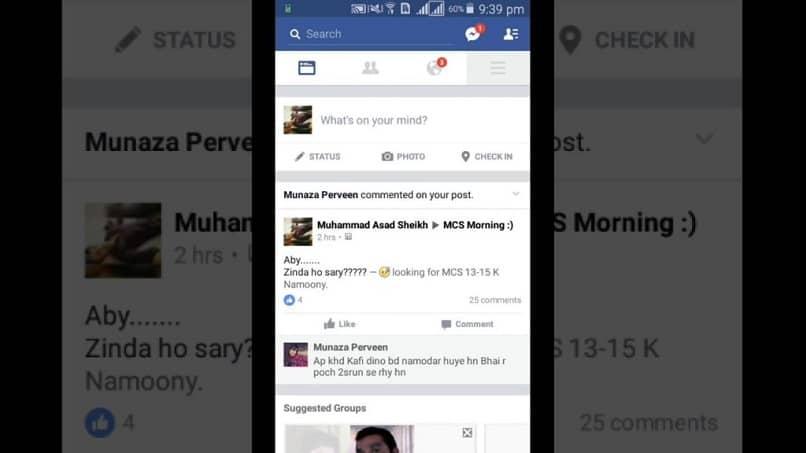 conversacion facebook
