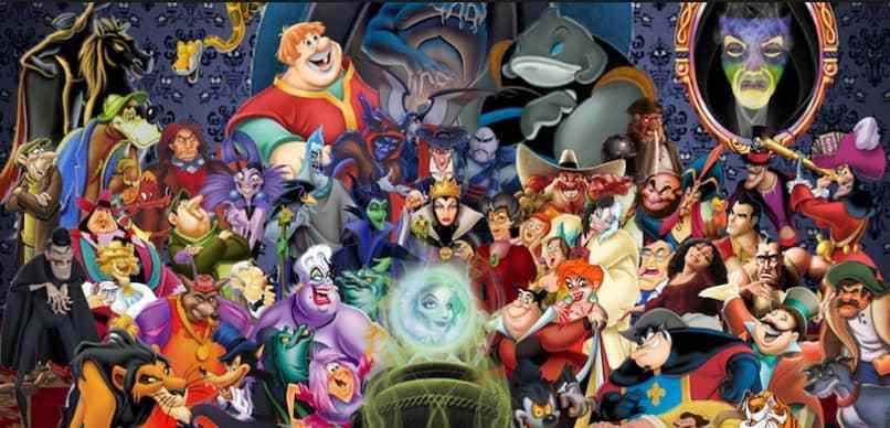 imagen de los personajes villanos de disney