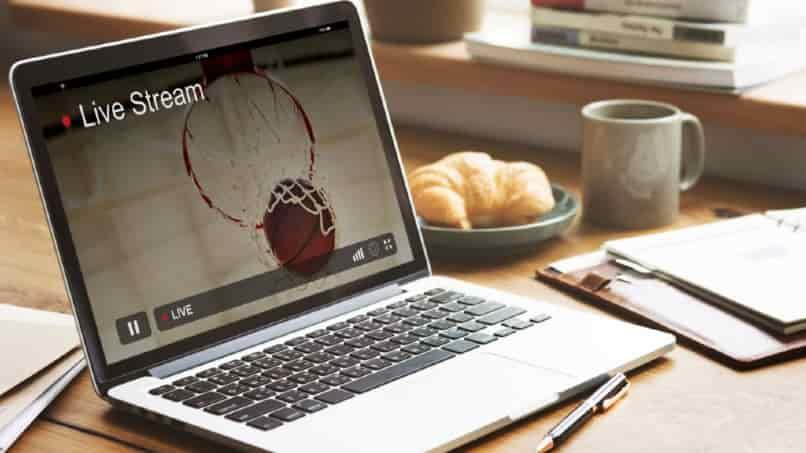 laptop proyectando live