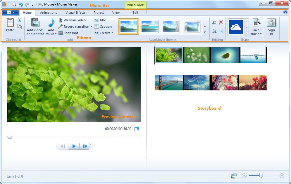 Resultado de imagen de Windows Movie Maker