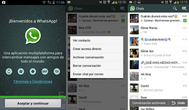 recupera chats archivados whatsapp