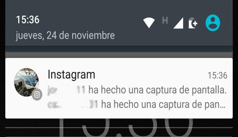 notificaciones instagram captutas pantalla