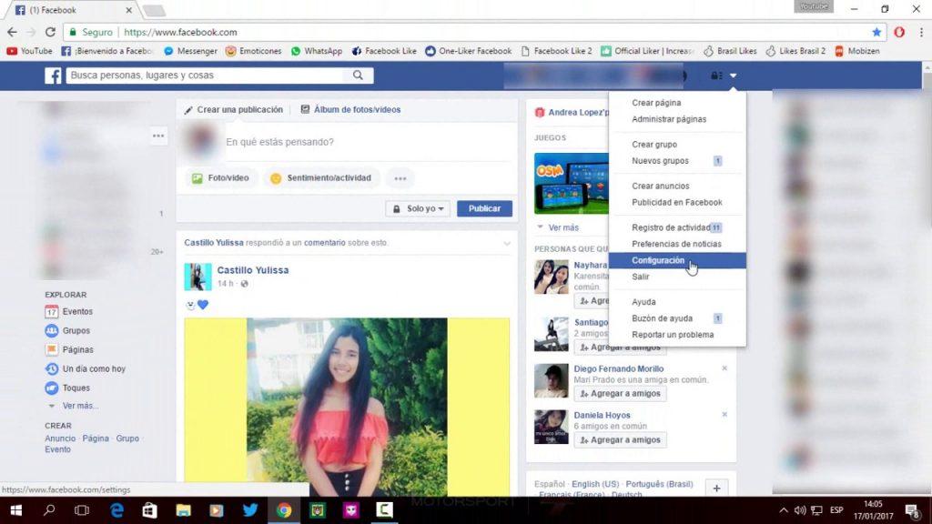 como puedo ver quien mira mi facebook