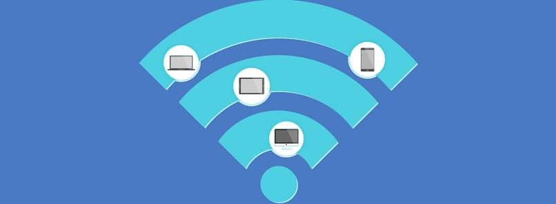 WiFi logo azul