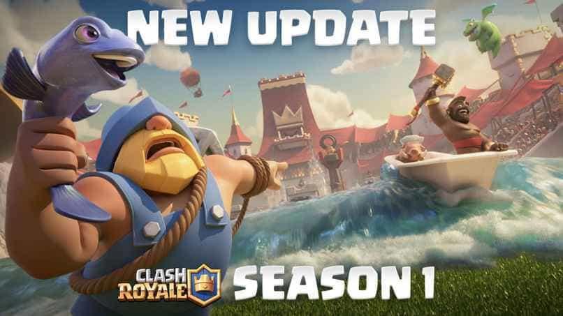 personaje del juego clash royale sosteniendo un pez