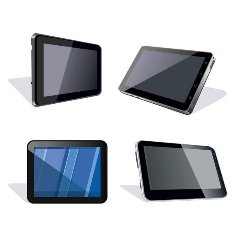 cuatro tablets paradas de frente