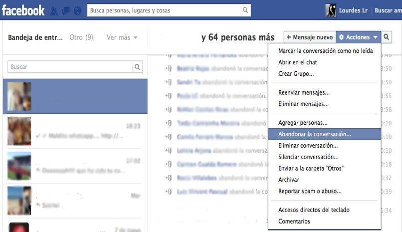 retirarse grupo facebook