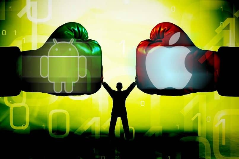 ios vs android guantes boxeo