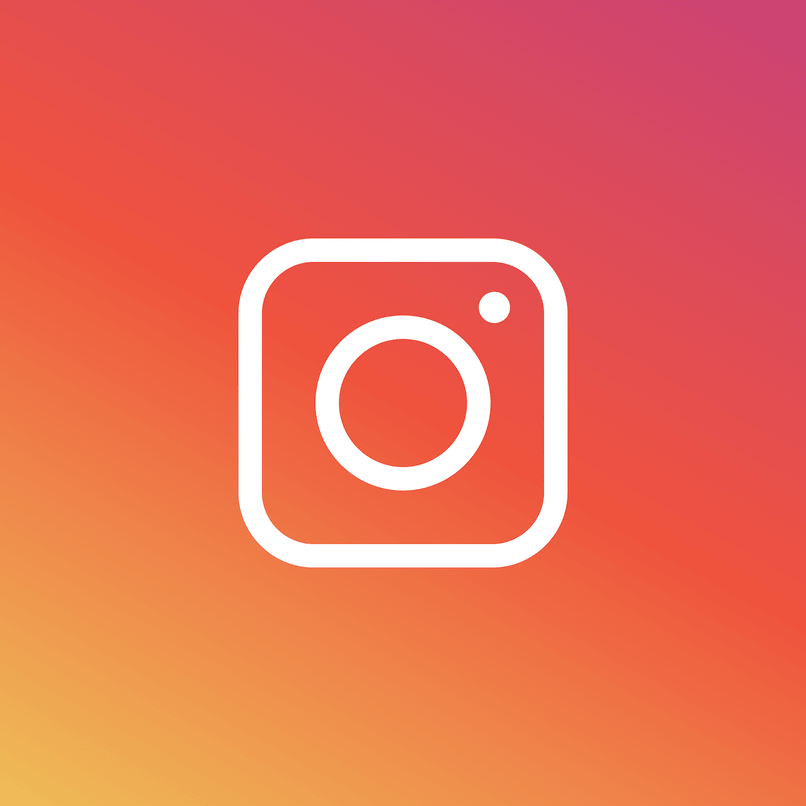 logo de instagran con fondo multi color