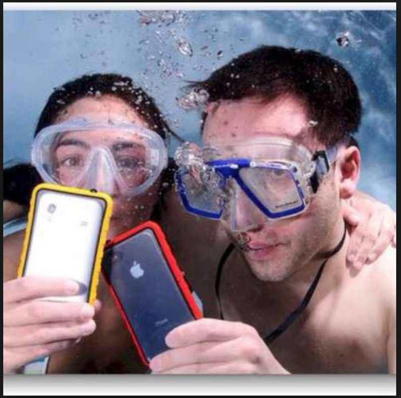 telefono protegido contra agua
