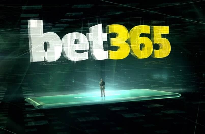 logo de bet365 sobre dispositivo movil