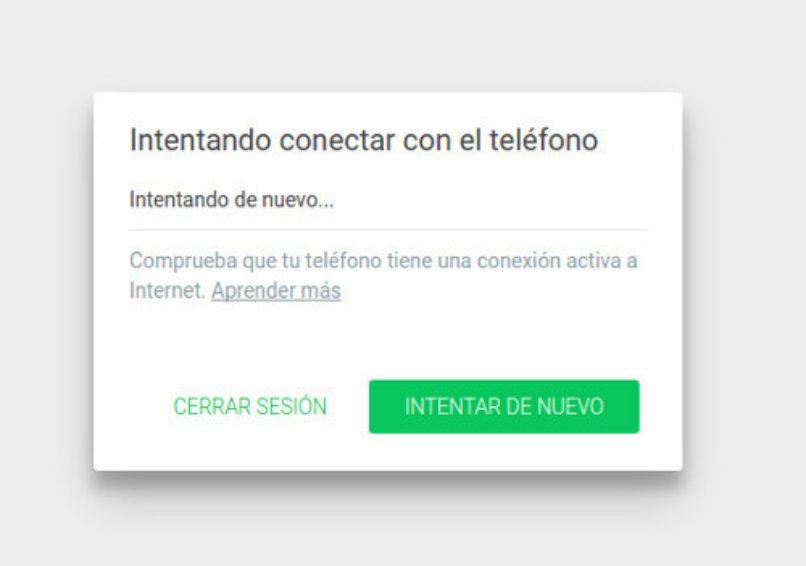 solucion para conectar whatsapp web en escritorio
