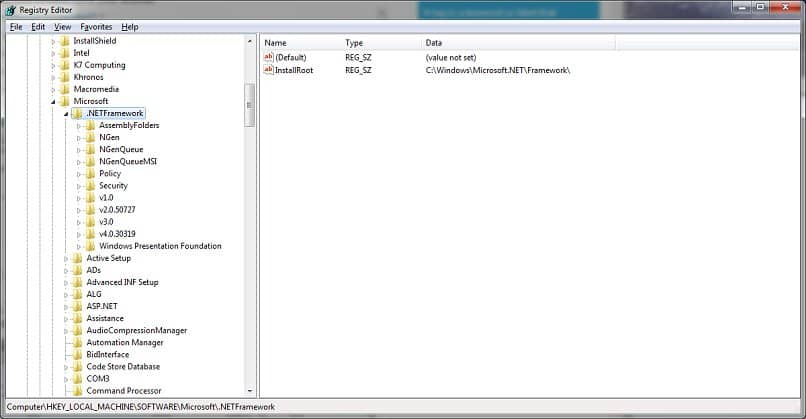 configurar net framework en windows
