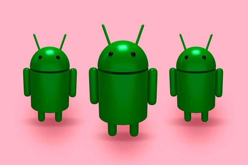 simbologia android tres robots
