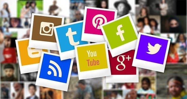 Imágenes de iconos de diversas redes sociales