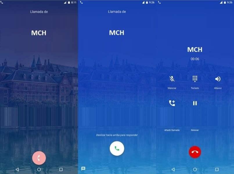 pantallas andoid llamadas entrantes mch android