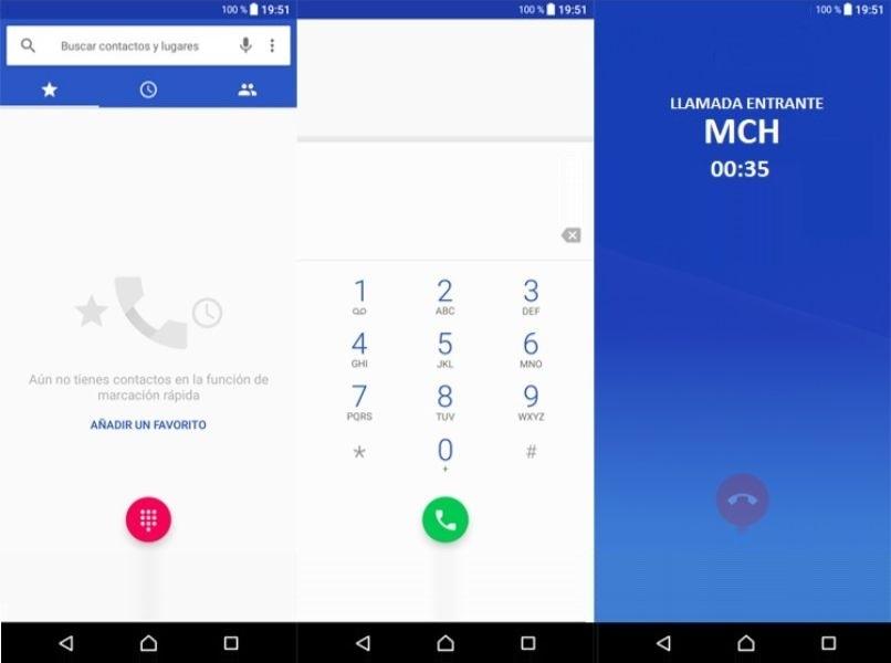 varias capturas pantallas android llamada entrante mch