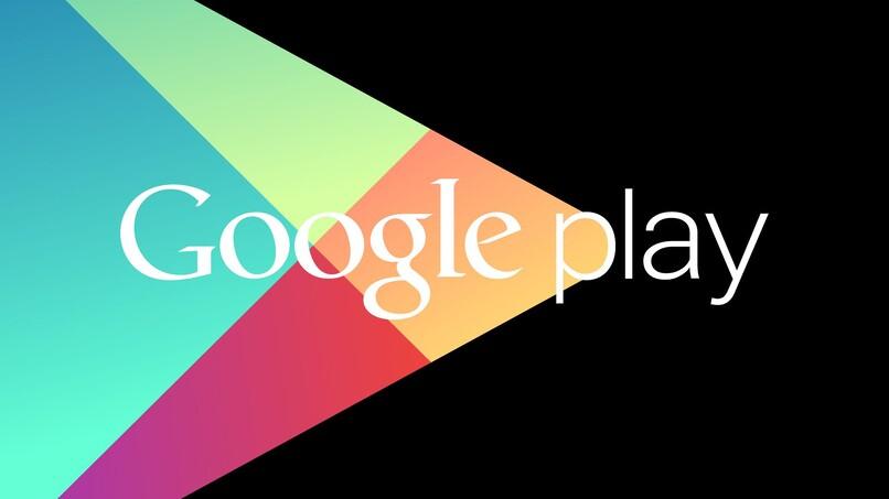 logo de google play store en fondo negro