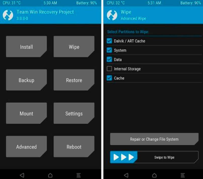 Que el modo Recovery en Android y la PC