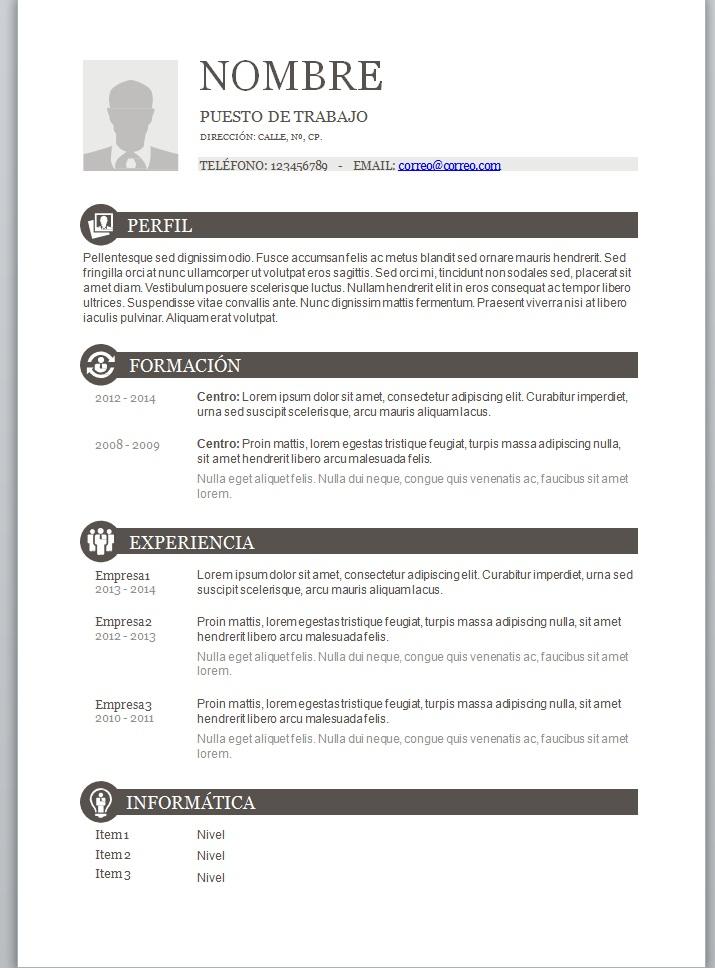 Diferentes Modelos De Curriculum Vitae Para Rellenar 2018 Mira
