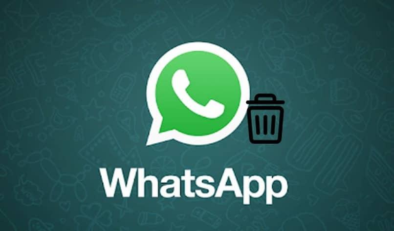 icono de whatsapp con una papelera