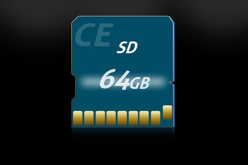 tarjeta microsd sobre un fondo color negro