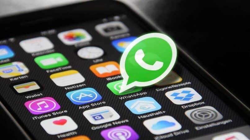 logo de whatsapp saliendo de la pantalla