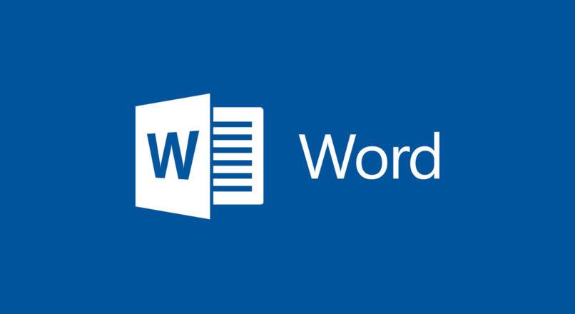 logo de microsoft word con fondo azul