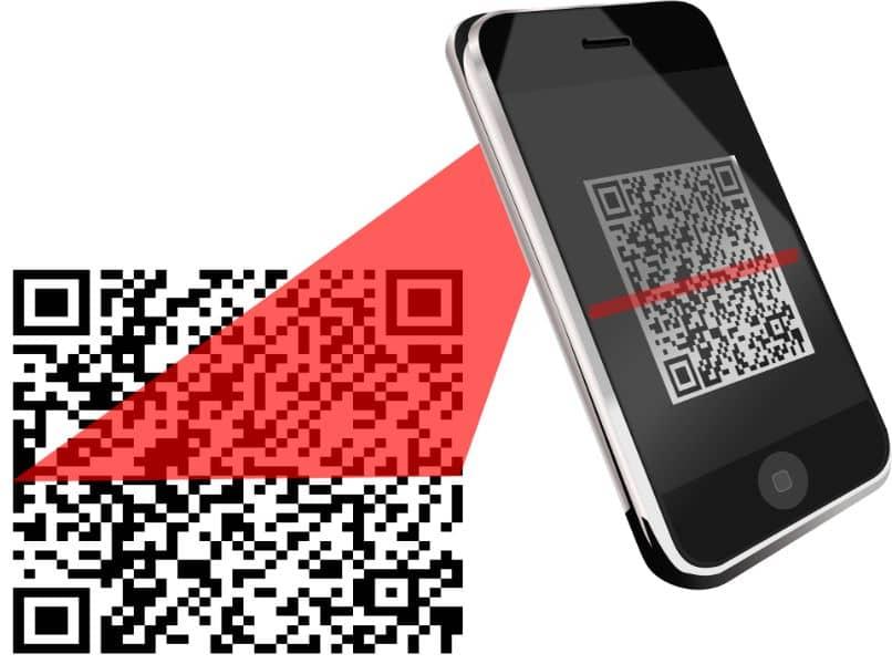 movil android escaneando codigo qr
