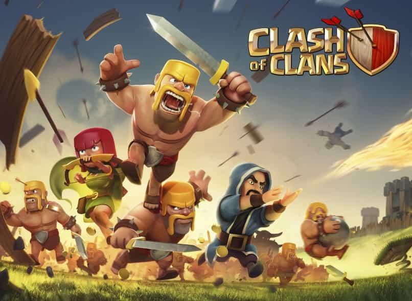 poster guerreros de clash of clans