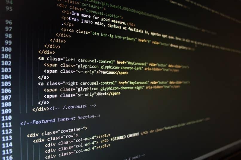 codigos de sitio en pantalla