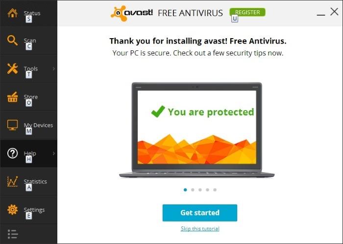 como desinstalar avast free antivirus en windows